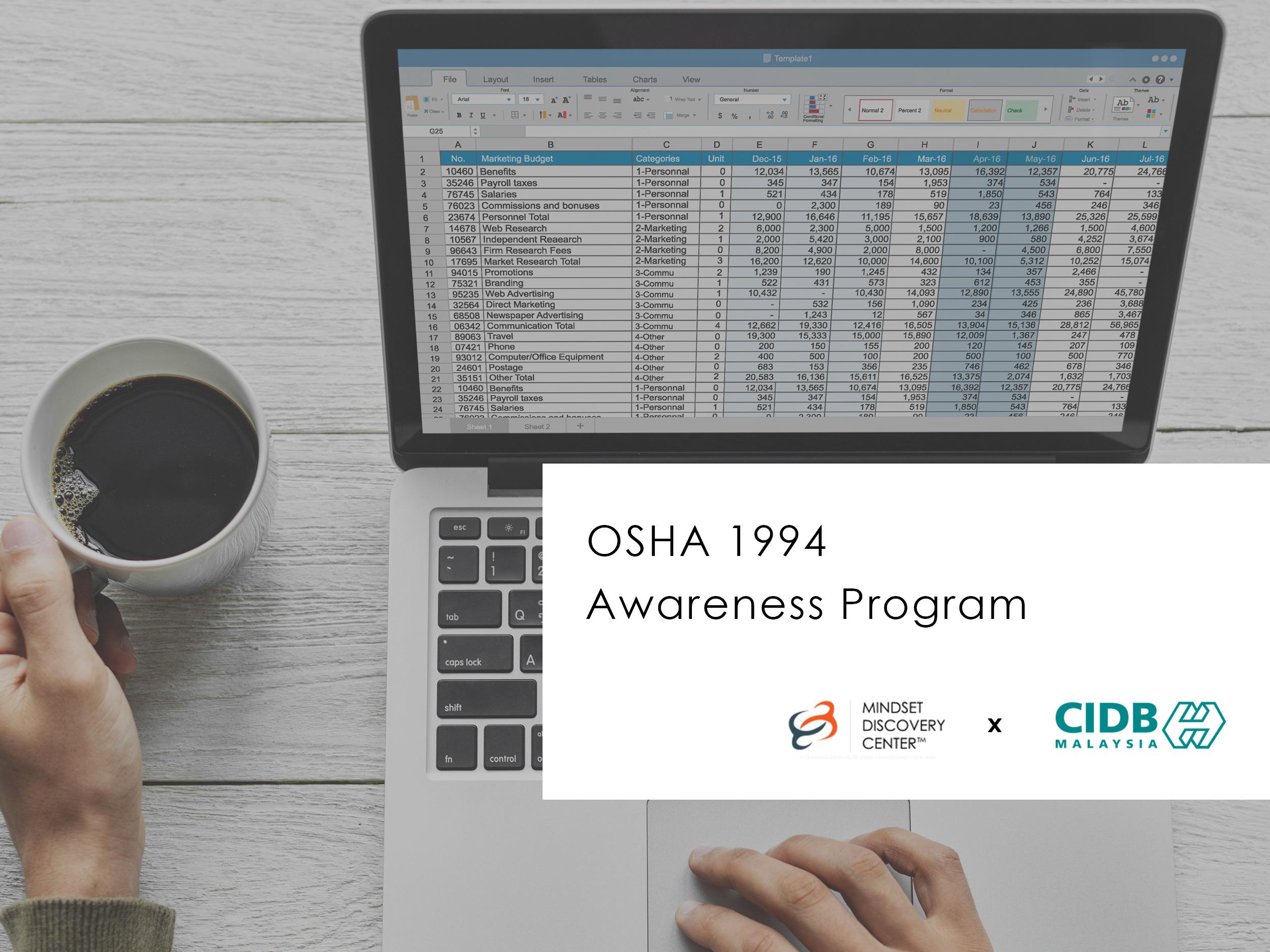 Occupational Safety & Health Act (OSHA) 1994 Awareness Program